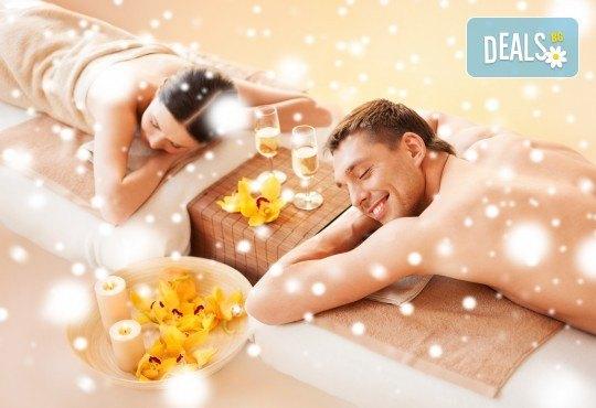 Романтичен СПА пакет за двама в Senses Massage & Recreation - масаж, перлена вана, вино и трансфер с лимузина Lincoln - Снимка 1
