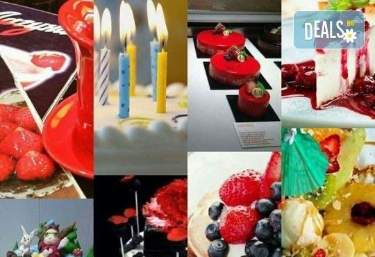 Еклерова торта по избор: с малини, смокини, ягоди или къпини от Виенски салон Лагуна! Предплатете сега 1лв. - Снимка 11