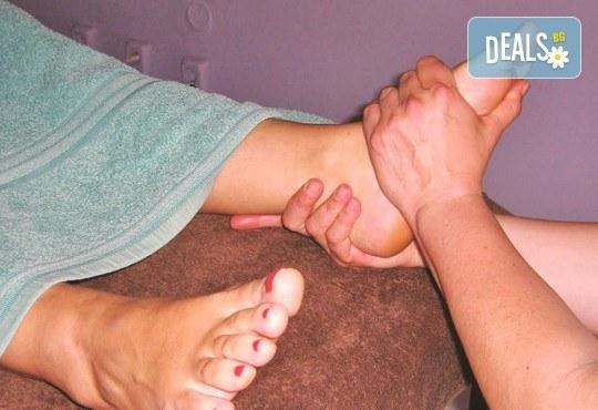 80 минути релакс! Болкоуспокояващ шиацу масаж на цяло тяло с билкови масла, масаж на глава и рефлексотерапия от масажно студио Frictio! - Снимка 3