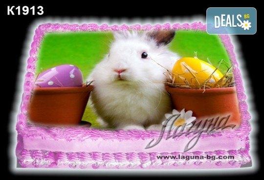 Великденска торта с картинки на зайчета, рисувани яйчица и много пролетно настроение, избор от 20 фото-картинки от Виенски салон Лагуна! - Снимка 11