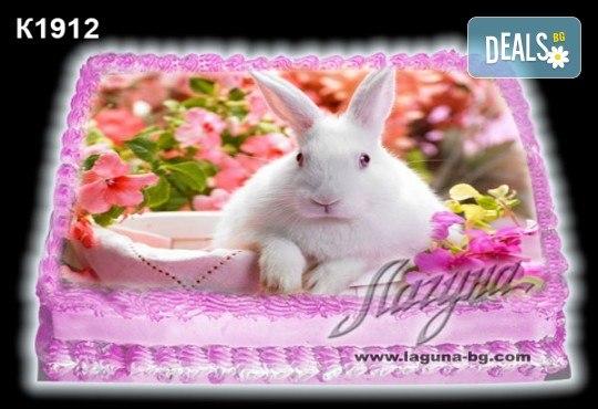 Великденска торта с картинки на зайчета, рисувани яйчица и много пролетно настроение, избор от 20 фото-картинки от Виенски салон Лагуна! - Снимка 12