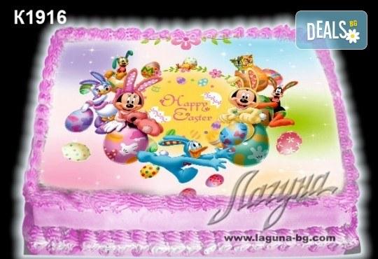 Великденска торта с картинки на зайчета, рисувани яйчица и много пролетно настроение, избор от 20 фото-картинки от Виенски салон Лагуна! - Снимка 18