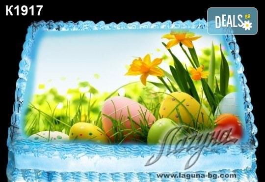 Великденска торта с картинки на зайчета, рисувани яйчица и много пролетно настроение, избор от 20 фото-картинки от Виенски салон Лагуна! - Снимка 19