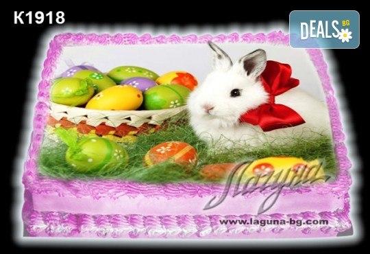 Великденска торта с картинки на зайчета, рисувани яйчица и много пролетно настроение, избор от 20 фото-картинки от Виенски салон Лагуна! - Снимка 2