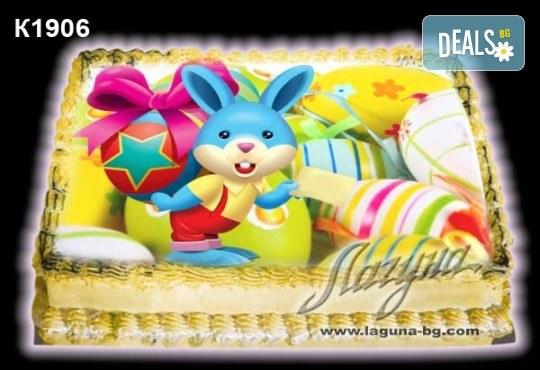 Великденска торта с картинки на зайчета, рисувани яйчица и много пролетно настроение, избор от 20 фото-картинки от Виенски салон Лагуна! - Снимка 5