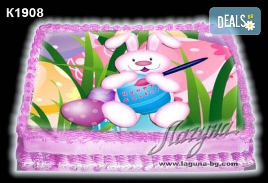Великденска торта с картинки на зайчета, рисувани яйчица и много пролетно настроение, избор от 20 фото-картинки от Виенски салон Лагуна! - Снимка 6