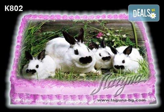 Великденска торта с картинки на зайчета, рисувани яйчица и много пролетно настроение, избор от 20 фото-картинки от Виенски салон Лагуна! - Снимка 7