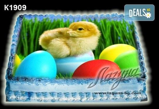 Великденска торта с картинки на зайчета, рисувани яйчица и много пролетно настроение, избор от 20 фото-картинки от Виенски салон Лагуна! - Снимка 8