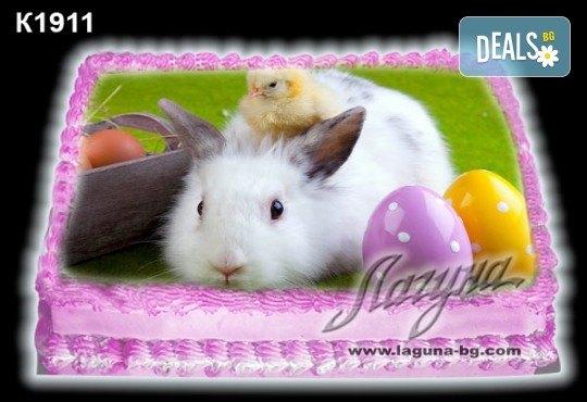 Великденска торта с картинки на зайчета, рисувани яйчица и много пролетно настроение, избор от 20 фото-картинки от Виенски салон Лагуна! - Снимка 10