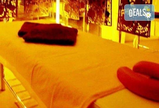 Едночасов релаксиращ масаж на цяло тяло с ароматни масла, рефлексотерапия на стъпалата, японски масаж на лице и хидратираща маска от Лаура стайл! - Снимка 4