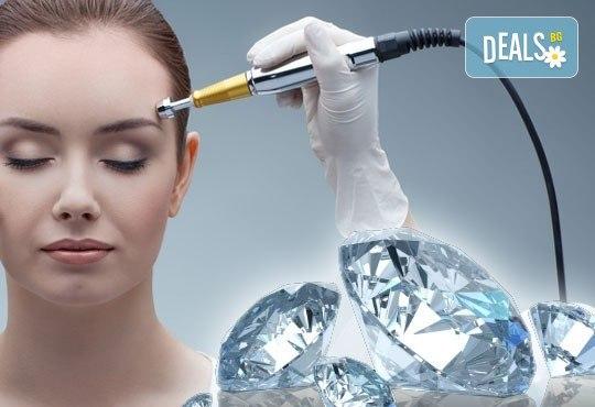 Диамантено микродермабразио, хидратираща терапия, хиалуронов серум и ампула с колаген в салон за красота Респект - Снимка 1