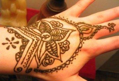 Покажете своята индивидуалност! Вземете ваучер за временна татуировка с индийска къна от Студио МатуреАрт - Снимка