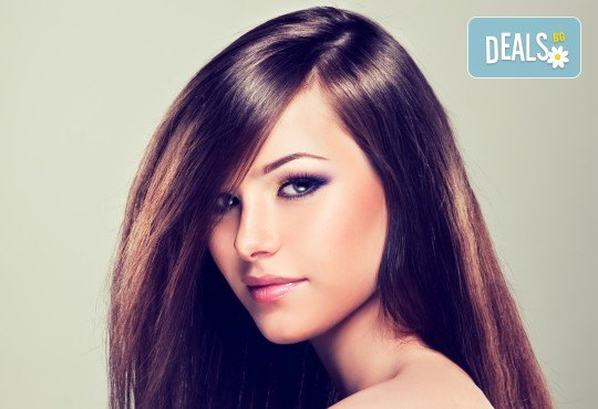 Кератинова терапия за коса с продукти Selective Professional плюс изправяне с преса с арганови плочки или къдрици в студио за красота Магнолия! - Снимка 2