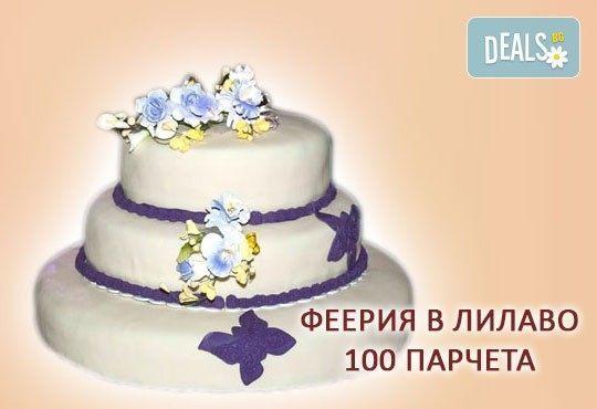 За Вашата сватба! Бутикова сватбена торта с АРТ декорация от Сладкарница Джорджо Джани! - Снимка 17