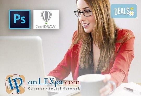 Oнлайн курс за работа с Photoshop и CorelDraw, страхотен IQ тест и удостоверение за завършен курс от onLEXpa.com! - Снимка 1