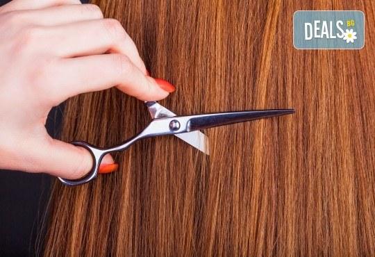 Боядисване с професионална боя BES, подстригване, маска и оформяне на косата със сешоар в студио Ананда! - Снимка 2