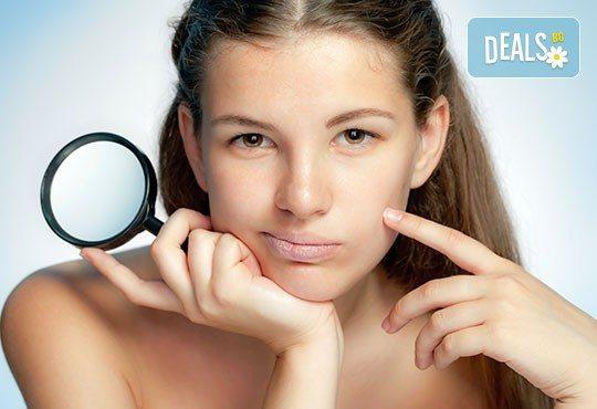 Анти акне терапия PURE SKIN, почистване на лице и нанасяне на серум с ултразвук или йонофореза в Студио за красота eLL - Снимка 1