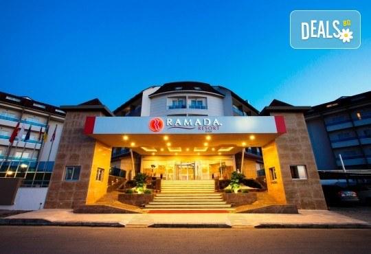 Last minute почивка в Анталия: 7 нощувки, All Inclusive в Ramada Resort Side 5*, двупосочен билет, директен полет, летищни такси и трансфери - Снимка 2