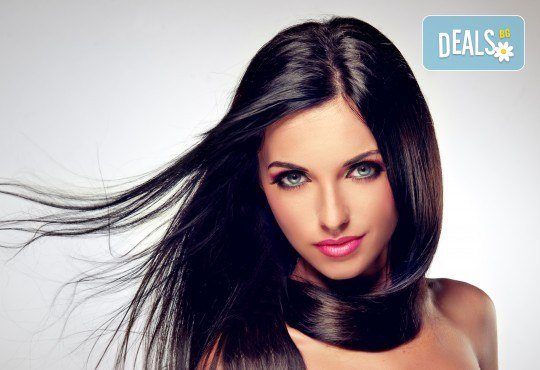 Кератинова или арганова терапия за коса и прав сешоар, студио Ma Belle