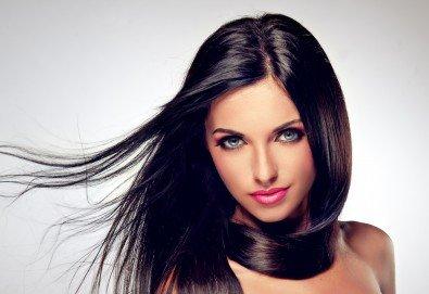 За красива визия! Кератинова или арганова терапия за коса и оформяне с прав сешоар в студио за красота Ma Belle! - Снимка