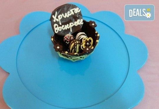 Изкушаващо вкусно предложение - ръчно изработени шоколадови кошнички за Великден от сладкарница Черешка - Снимка 2
