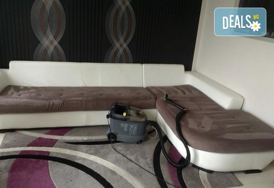 Професионално машинно изпиране и подсушаване на 6 седящи места мека мебел от фирма Кими - Снимка 3