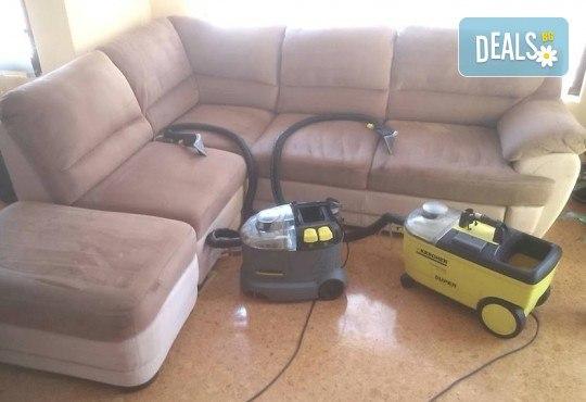 Професионално машинно изпиране и подсушаване на 6 седящи места мека мебел от фирма Кими - Снимка 4
