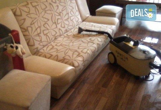 Професионално машинно изпиране и подсушаване на 6 седящи места мека мебел от фирма Кими - Снимка 5