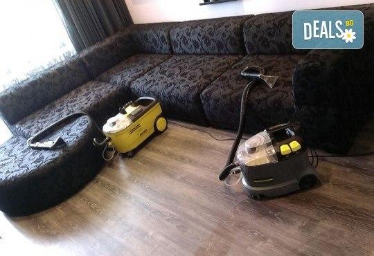 Професионално машинно изпиране и подсушаване на 6 седящи места мека мебел от фирма Кими - Снимка 2