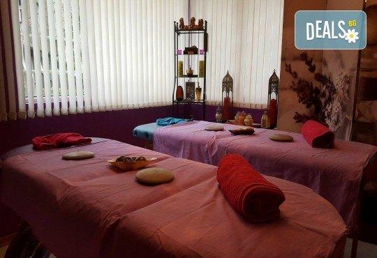 90-минутен СПА пакет - лечебен или кралски масаж на цяло тяло и глава с нано злато и детоксикиращ масаж с мед на гръб, бонус - рефлексотерапия на стъпала - Снимка 8
