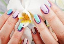 Внесете цветни нотки с дълготраен маникюр с гел лак на SNB и 4 декорации в салон Bellissima Donna - Снимка