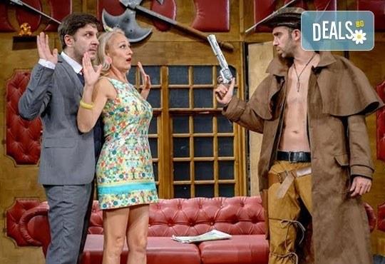 Гледайте Асен Блатечки в спектакъла на Театрална къща Viva Arte - Опасно за живота, на 19.05. от 19ч, Театър Сълза и Смях - Снимка 2