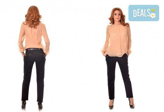 За женствен и изискан стил! Вземете пъстра туника в синьо-розово или блуза в бежово, изработена от 100% вискоза, от Модна къща Ревю! - Снимка 2