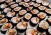Малкият дракон на Азия! Сет от 50 хапки кимбап корейското суши със сьомга, херинга, сурими, нори, ориз и сусамово олио от Sun of Asia в центъра на София! - thumb 2