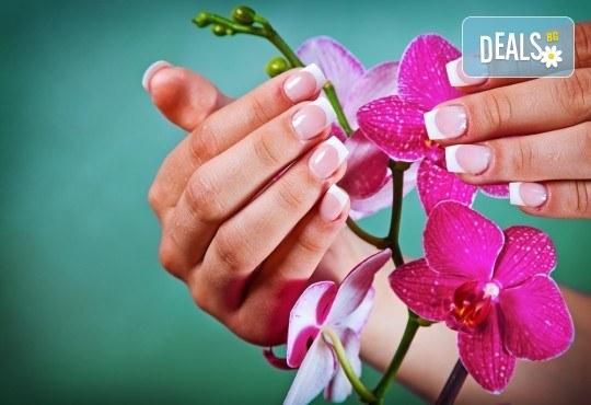 Разкрасете ръцете си с класически или френски маникюр с гел лак Blue Sky/S&A /CANNI в салон Виктория - Снимка 1