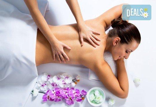 Релакс и здраве! Цялостен 60-минутен масаж с ароматни и билкови етерични масла от жасмин, алое, макадамия и лавандула в новото студио Massage and therapy Freerun! - Снимка 2