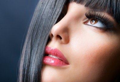 Гъсти, дълги и съблазнителни ресници! Поставяне на 3D или 4D мигли чрез технологията косъм по косъм в салон за красота Sassy! - Снимка