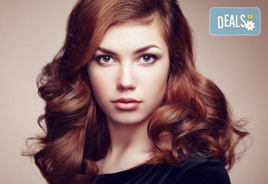 Боядисване с Ваша боя, нанасяне на маска, подстригване и оформяне със сешоар във фризьоро-козметичен салон Вили в кв. Белите брези - Снимка 2