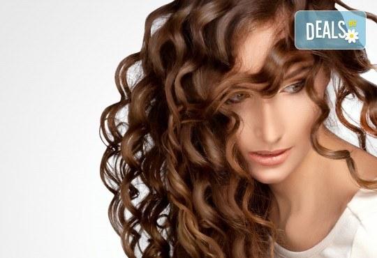 Нова визия за дълго време с трайно изправяне на коса или трайно къдрене на коса във фризьоро-козметичен салон Вили - Снимка 2