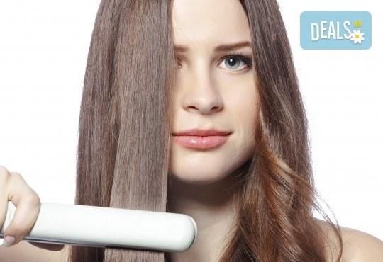 Нова визия за дълго време с трайно изправяне на коса или трайно къдрене на коса във фризьоро-козметичен салон Вили - Снимка 1