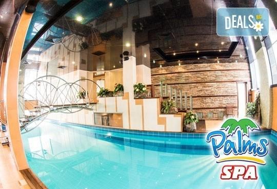Влезте във форма с Palms Spa към хотел Анел 5*! Басейн + джакузи, фитнес или комбинация със сауна или парна баня само до 15.06! - Снимка 1
