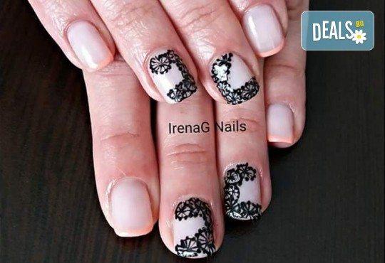 Класически или френски маникюр с гел лак Bluesky в IrenaG Nails! - Снимка 17