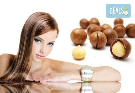 Терапия за коса с макадамия, подстригване, масажно измиване, маска с макадамия и оформяне на ежедневна прическа в студио LD - Снимка 1