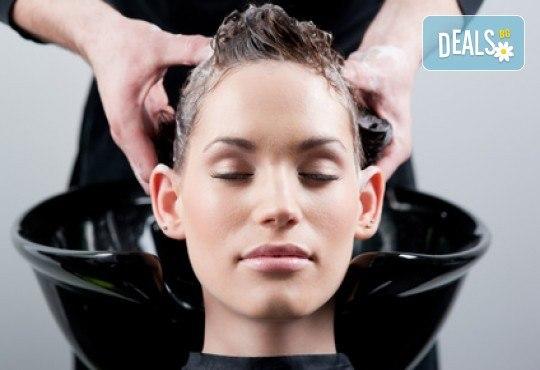 Грижа за косата! Измиване, нанасяне на маска и оформяне със сешоар - прав или къдрав, в салон за красота Ева - Снимка 3