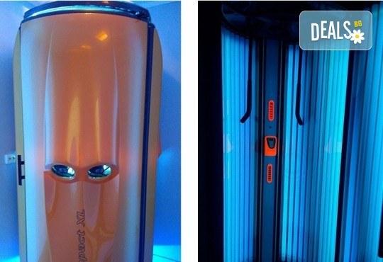 Подгответе кожата си за плаж! 3 посещения по 10 минути във вертикален турбо солариум в Мiss Beauty! - Снимка 4