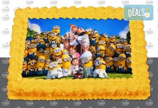 Изненадайте своя малчуган! Детска торта с картинка на любим герой и пълнеж по избор + безплатна доставка от Сладка София! - Снимка 8