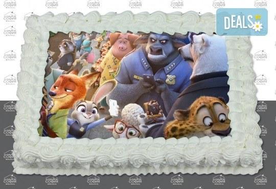 Изненадайте своя малчуган! Детска торта с картинка на любим герой и пълнеж по избор + безплатна доставка от Сладка София! - Снимка 12