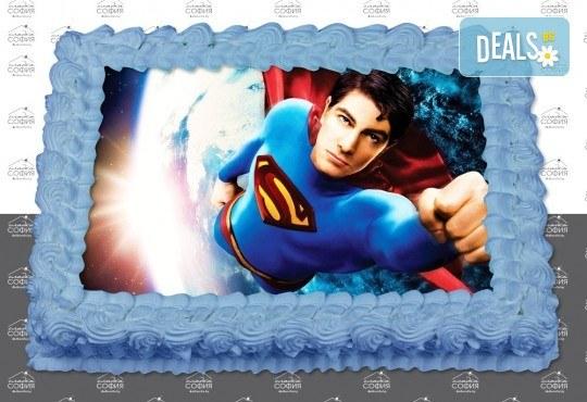 Изненадайте своя малчуган! Детска торта с картинка на любим герой и пълнеж по избор + безплатна доставка от Сладка София! - Снимка 5