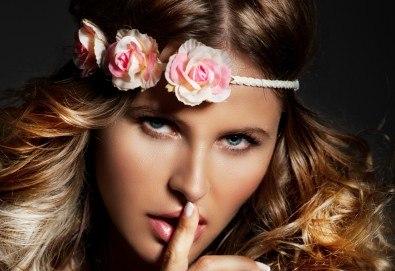 Нова прическа в свежи цветове, боядисване в стил Омбре, подстригване, масажно измиване, възстановяваща маска и прав сешоар в салон Diva! - Снимка