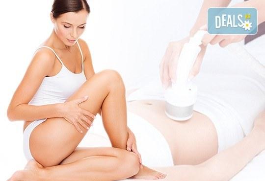 Красиво и стегнато тяло чрез кавитация с RF стягащ лифтинг с/без лимфодренаж на зoна по избор от Kult Beauty - Снимка 1